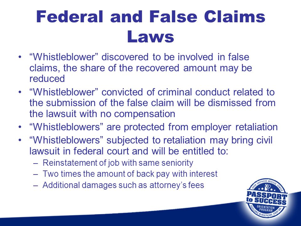 Federal and False Claims Laws
