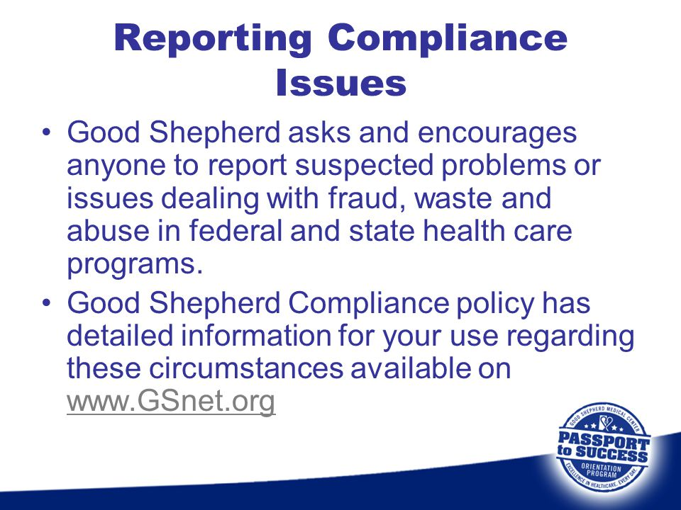 Reporting Compliance Issues