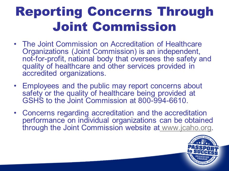 Reporting Concerns Through Joint Commission