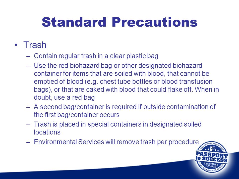 Standard Precautions Trash