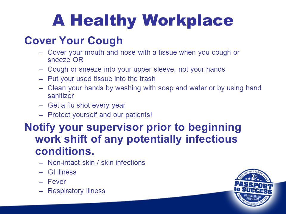 A Healthy Workplace Cover Your Cough
