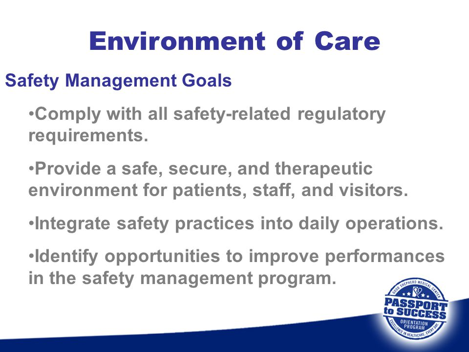 Environment of Care Safety Management Goals