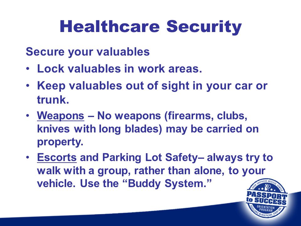 Healthcare Security Secure your valuables