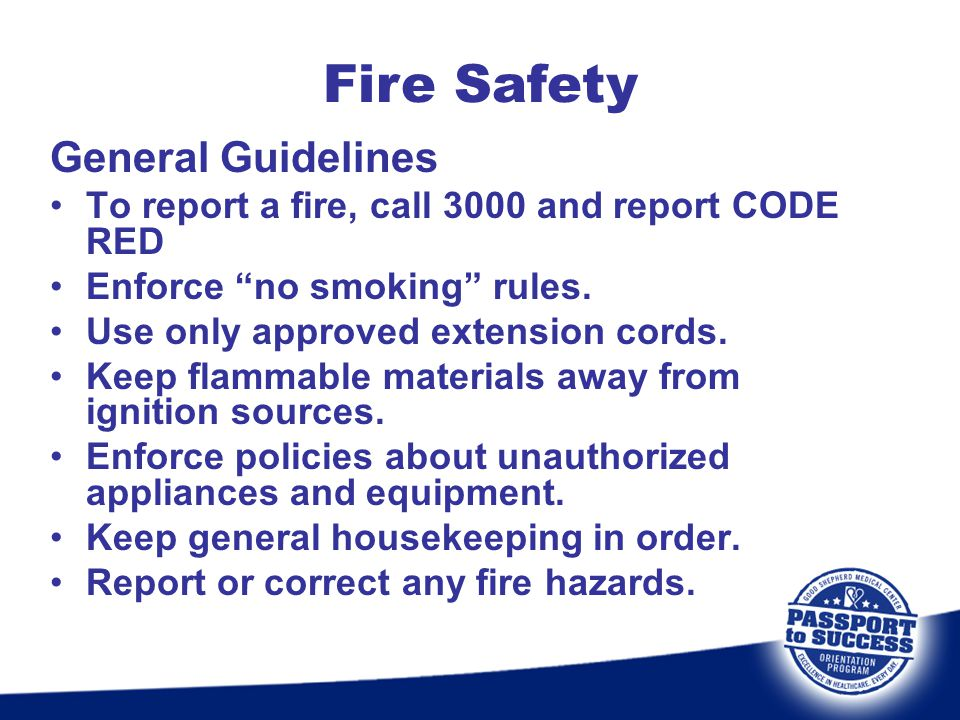 Fire Safety General Guidelines