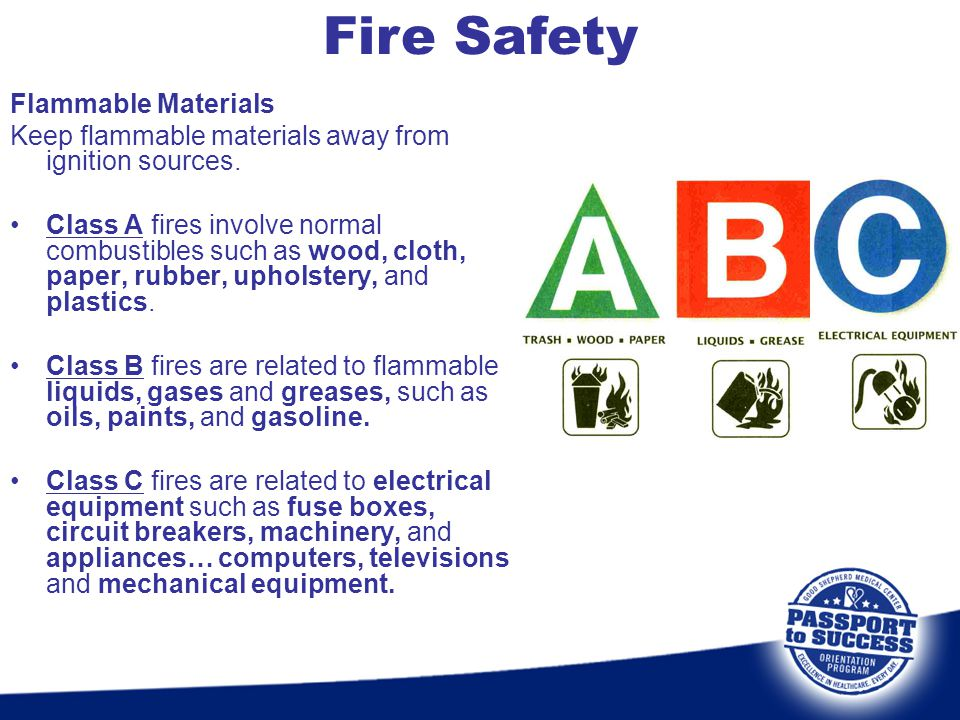 Fire Safety Flammable Materials