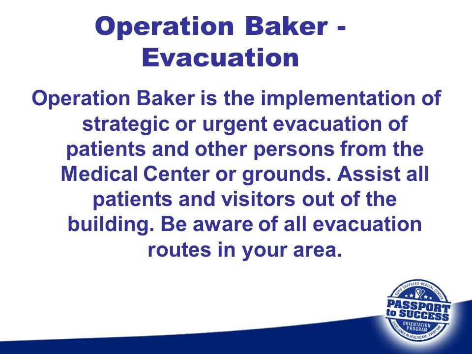 Operation Baker - Evacuation