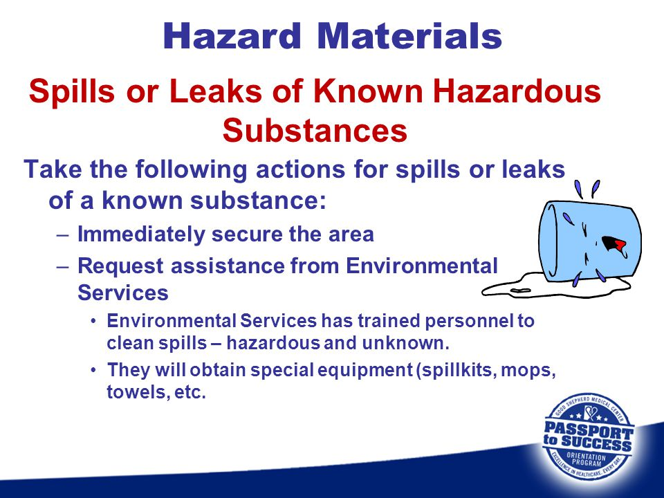 Spills or Leaks of Known Hazardous Substances
