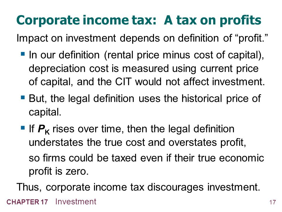 The Investment Tax Credit (ITC)