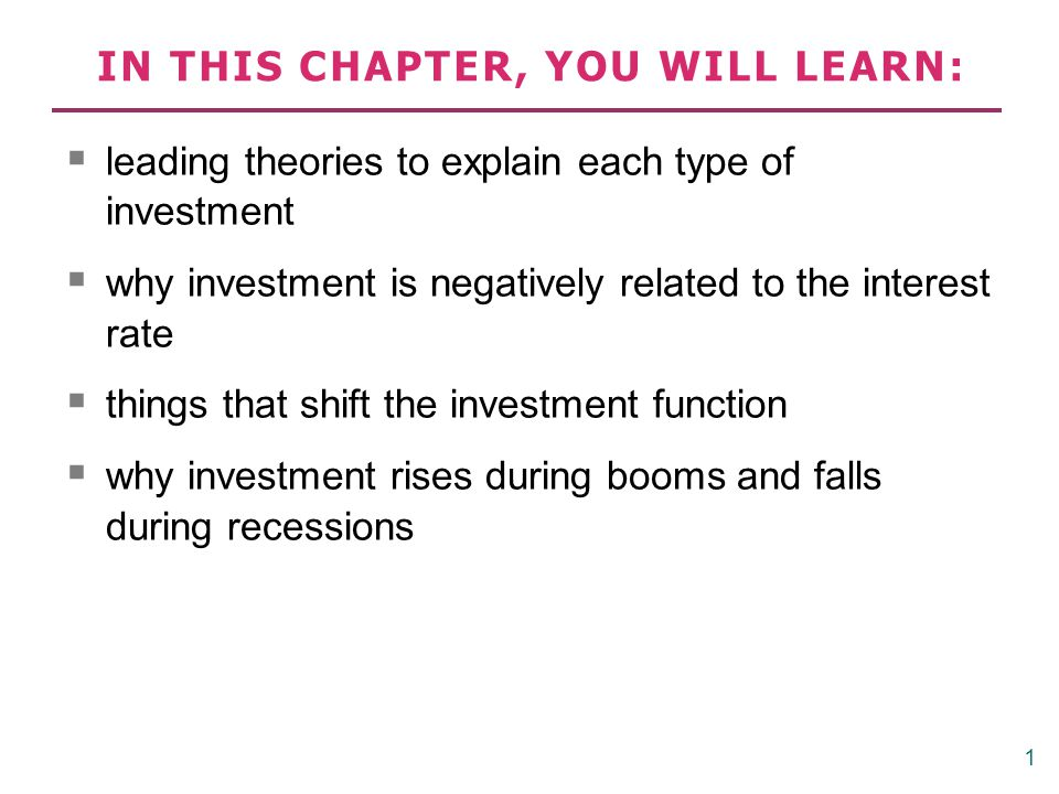 Three types of investment