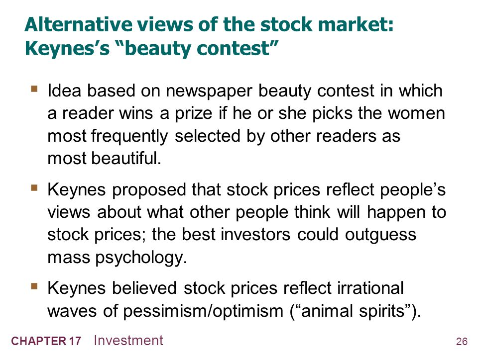 Alternative views of the stock market: EMH vs. Keynes's beauty contest