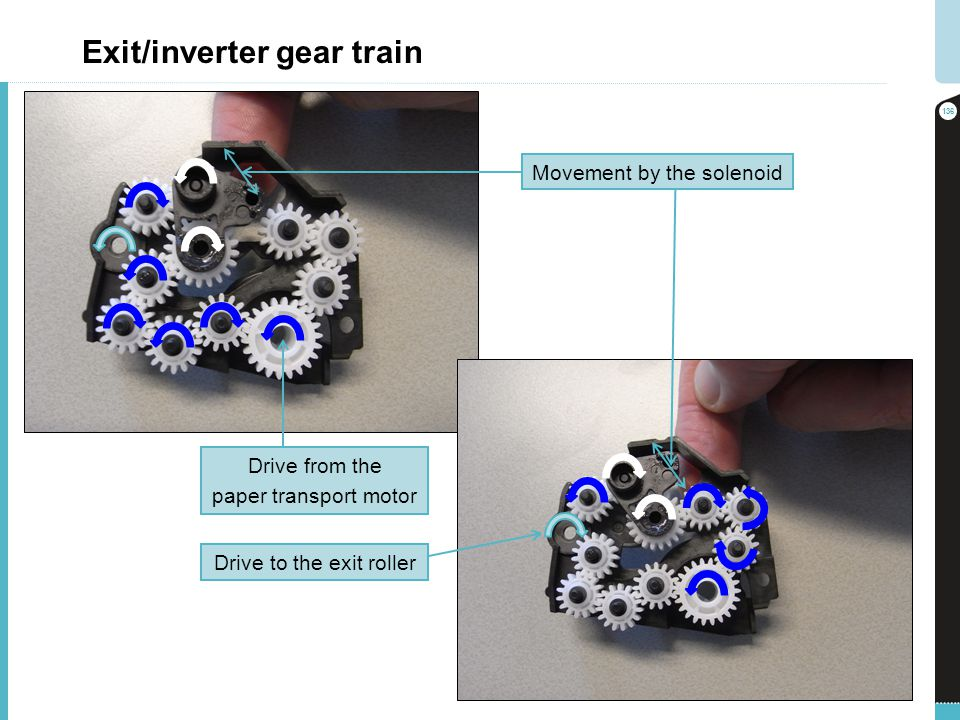 Exit/inverter gear train
