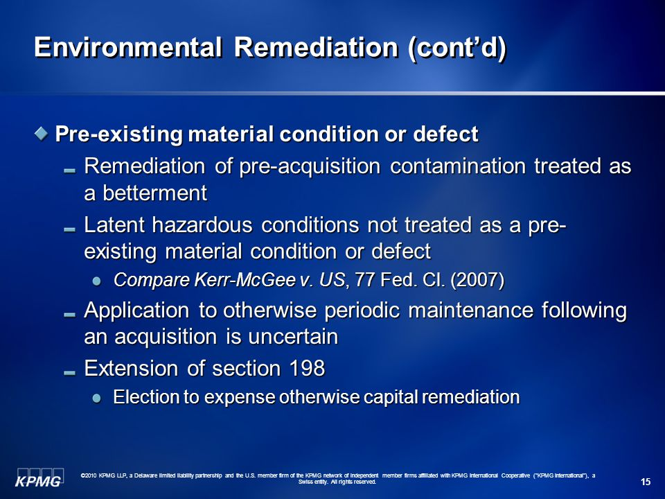 Environmental Remediation (cont'd)
