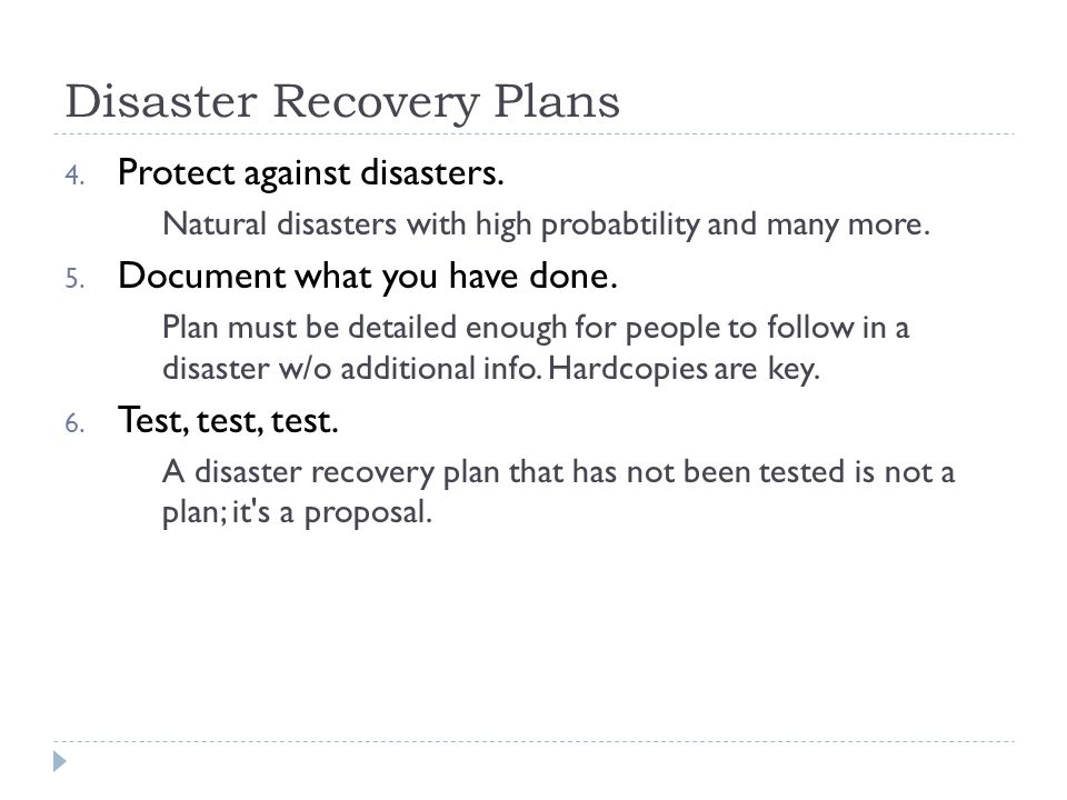 Ist Disaster Recovery Data Integrity Backups  Ppt Video