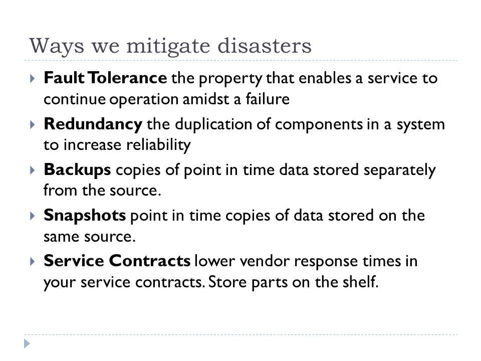 Ways we mitigate disasters