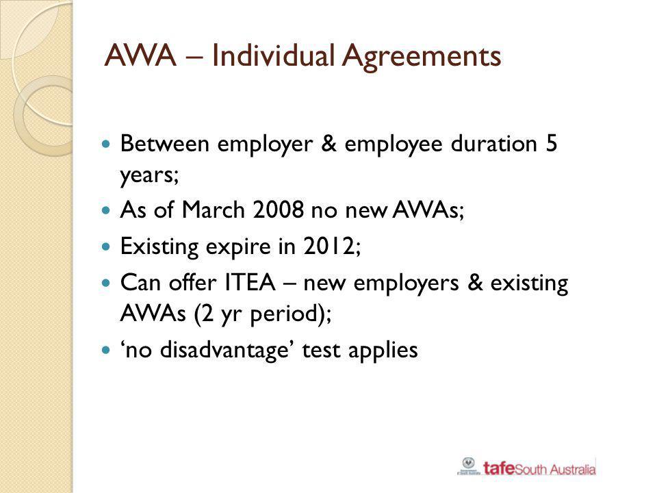AWA – Individual Agreements