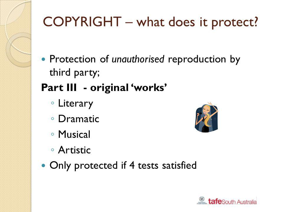 COPYRIGHT – what does it protect