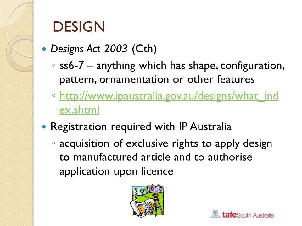 DESIGN Designs Act 2003 (Cth)