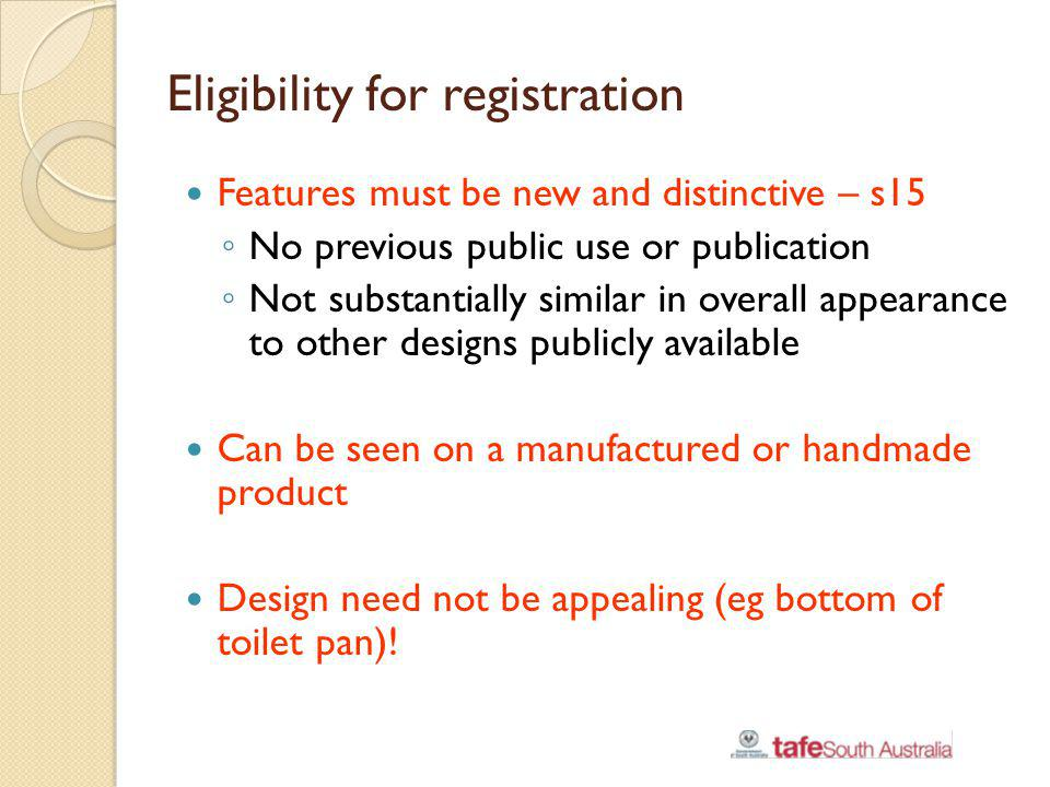Eligibility for registration