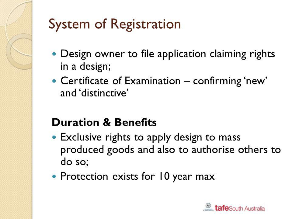 System of Registration