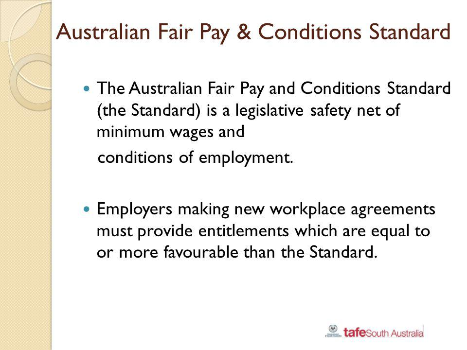 Australian Fair Pay & Conditions Standard