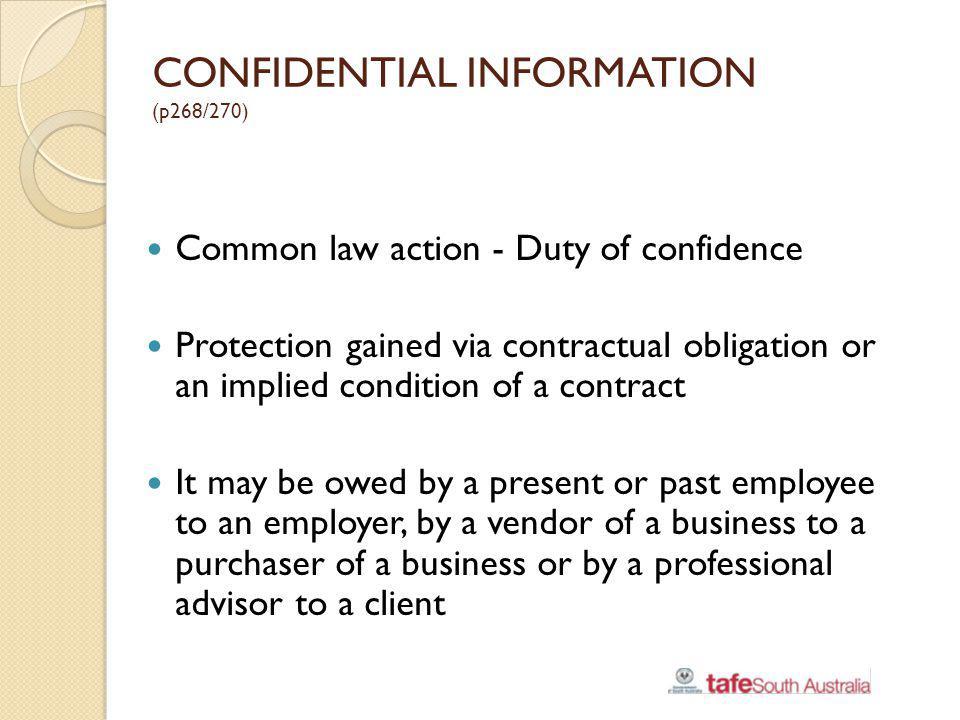 CONFIDENTIAL INFORMATION (p268/270)