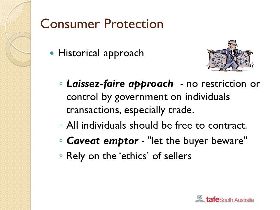 Consumer Protection Historical approach