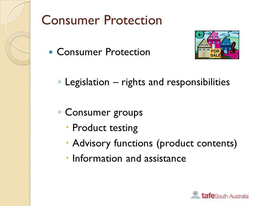 Consumer Protection Consumer Protection