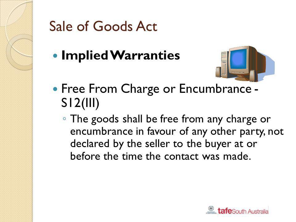 Sale of Goods Act Implied Warranties