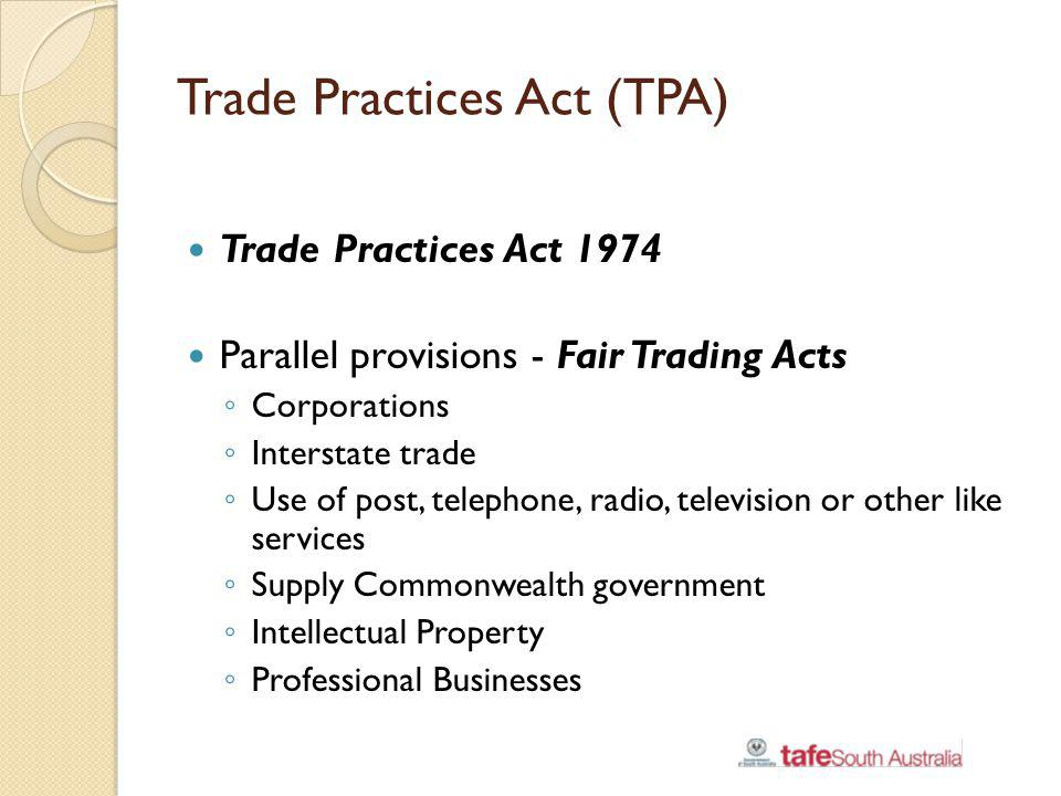 Trade Practices Act (TPA)