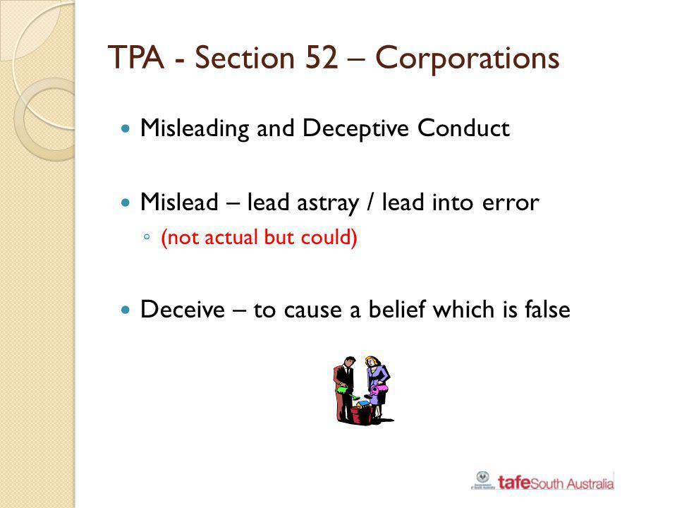 TPA - Section 52 – Corporations