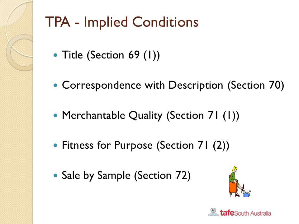 TPA - Implied Conditions