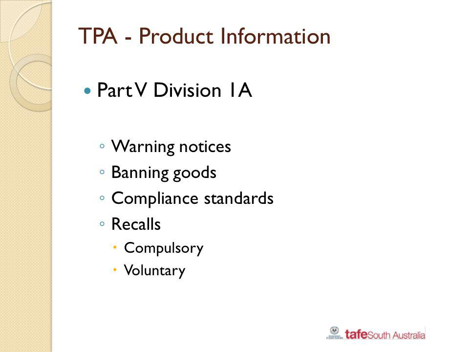 TPA - Product Information