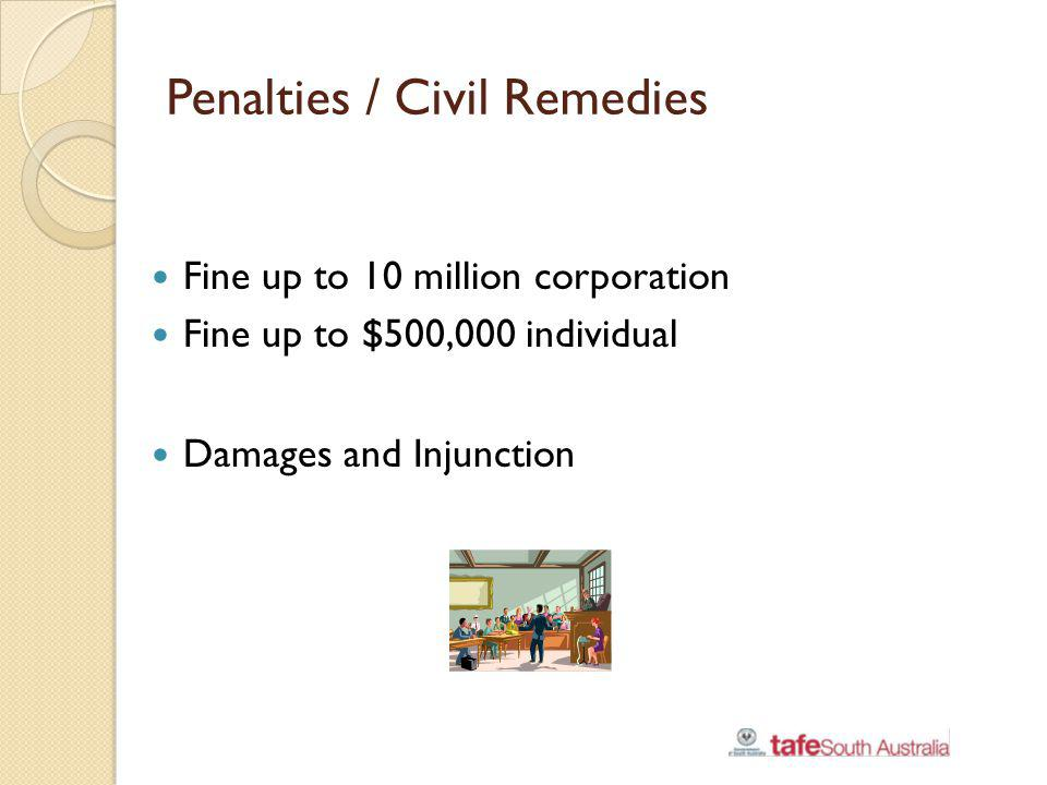 Penalties / Civil Remedies
