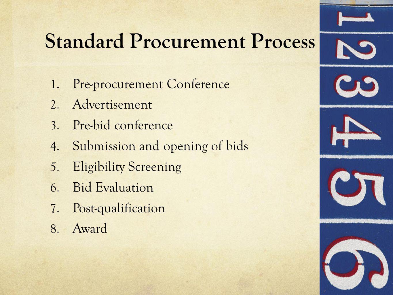 Standard Procurement Process