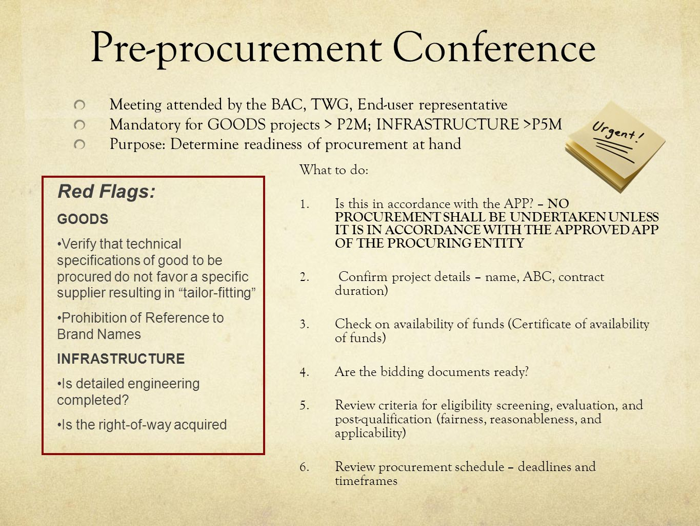 Pre-procurement Conference