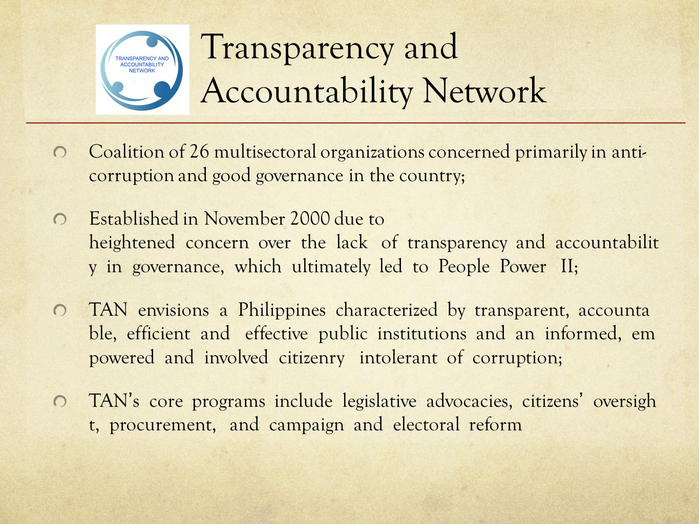 Transparency and Accountability Network