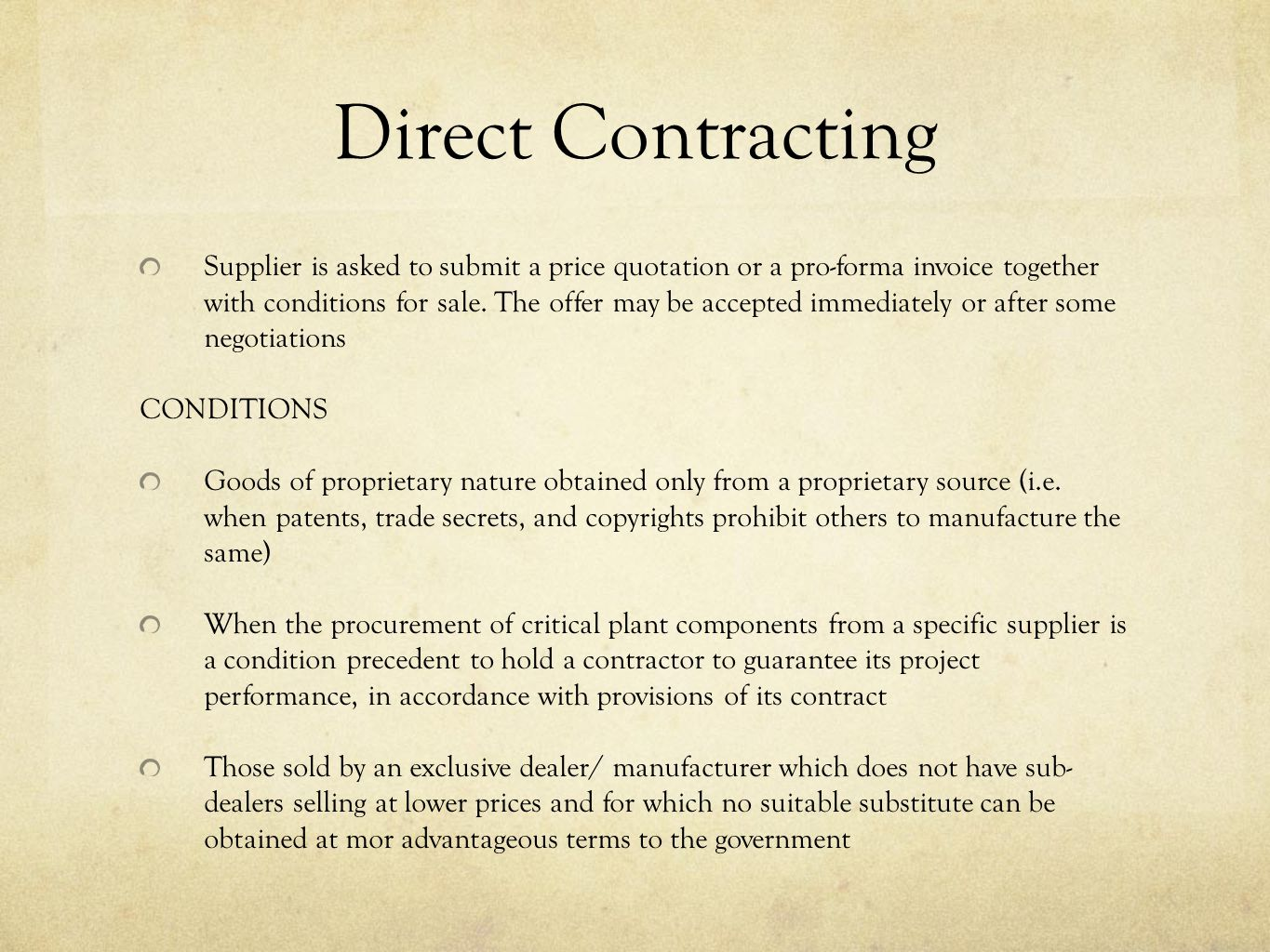 Direct Contracting