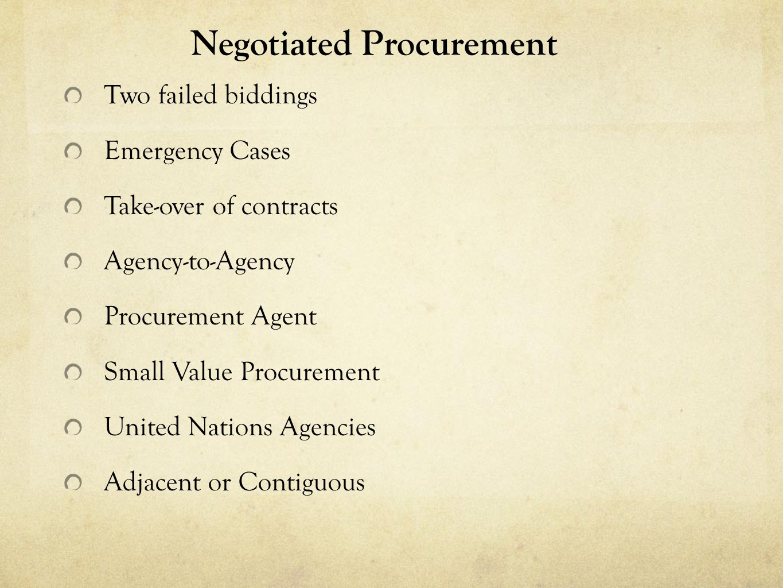 Negotiated Procurement