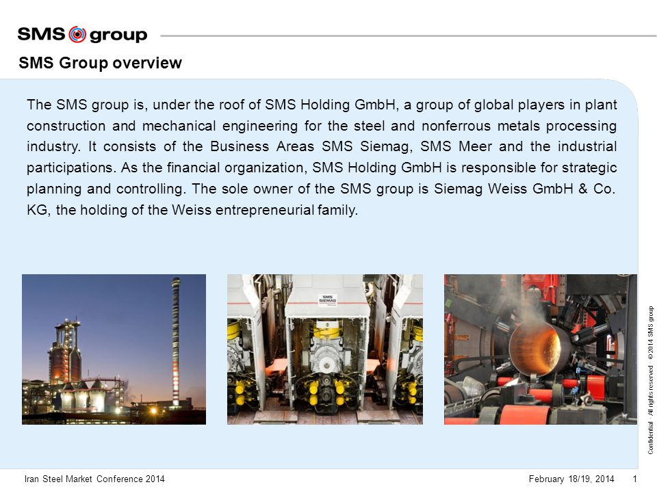SMS Group overview