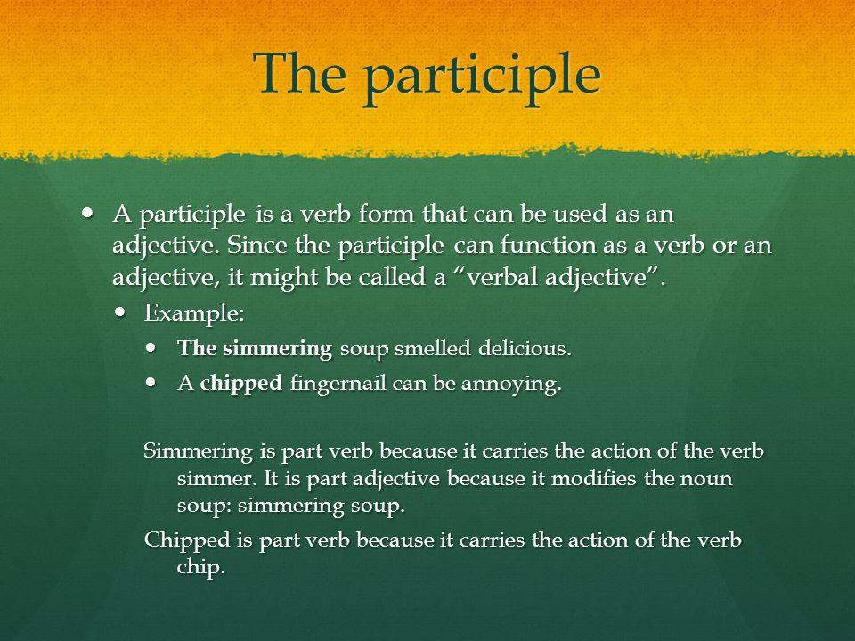 The participle