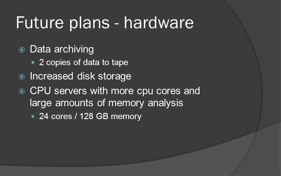 Future plans - hardware