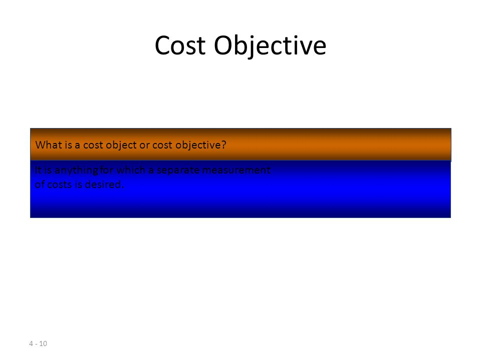 Cost Objective What is a cost object or cost objective