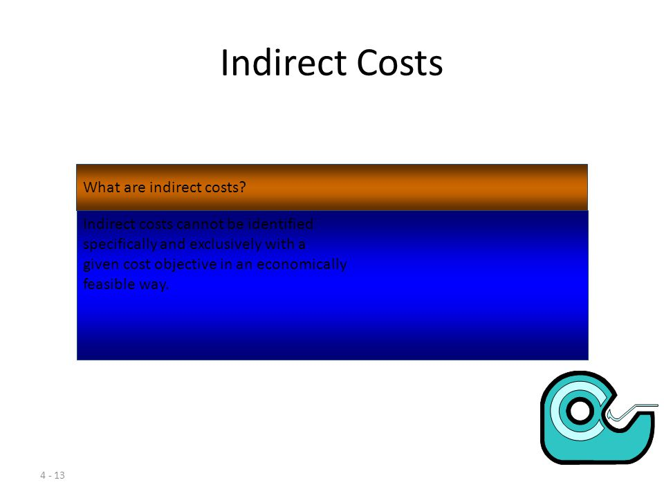 Indirect Costs What are indirect costs