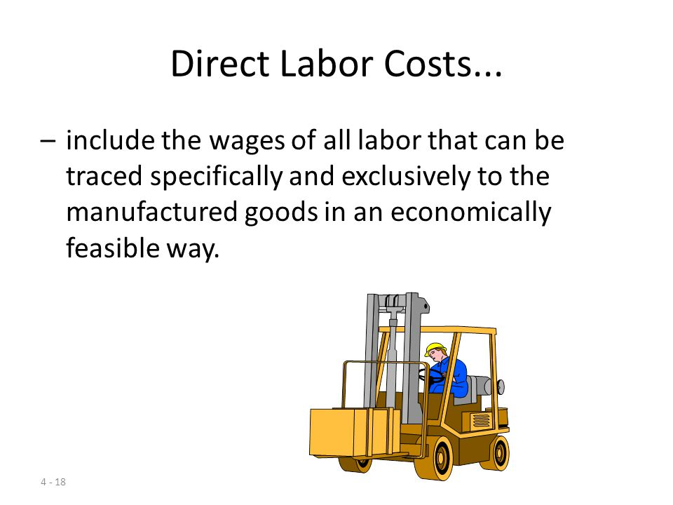 Direct Labor Costs...