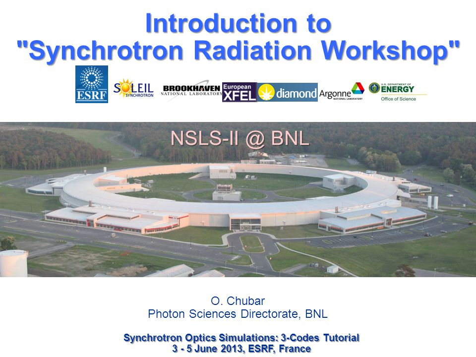 Introduction to Synchrotron Radiation Workshop