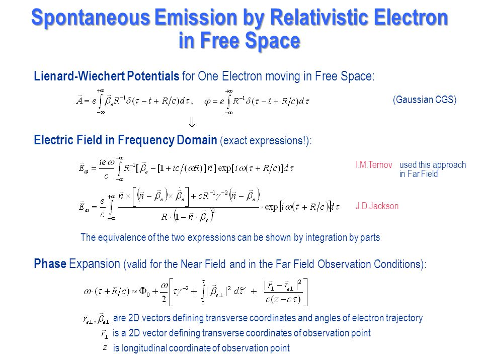 Spontaneous Emission by Relativistic Electron in Free Space