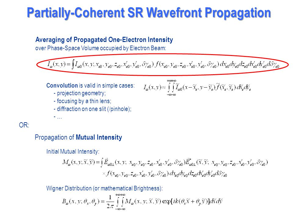 Partially-Coherent SR Wavefront Propagation