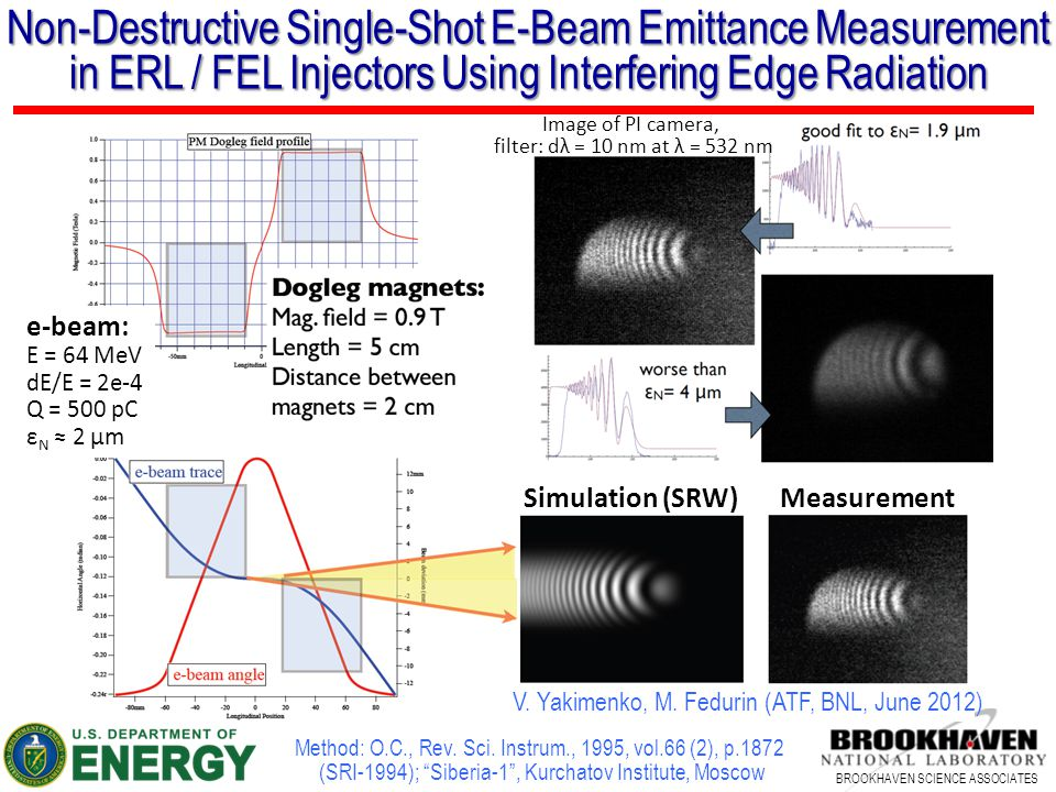 Non-Destructive Single-Shot E-Beam Emittance Measurement in ERL / FEL Injectors Using Interfering Edge Radiation