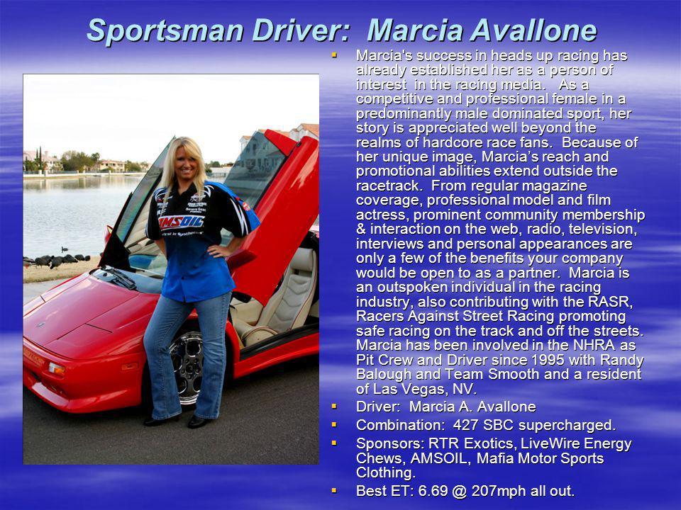Sportsman Driver: Marcia Avallone