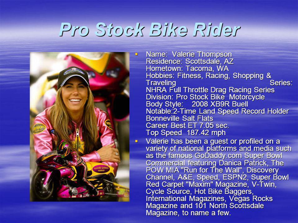Pro Stock Bike Rider